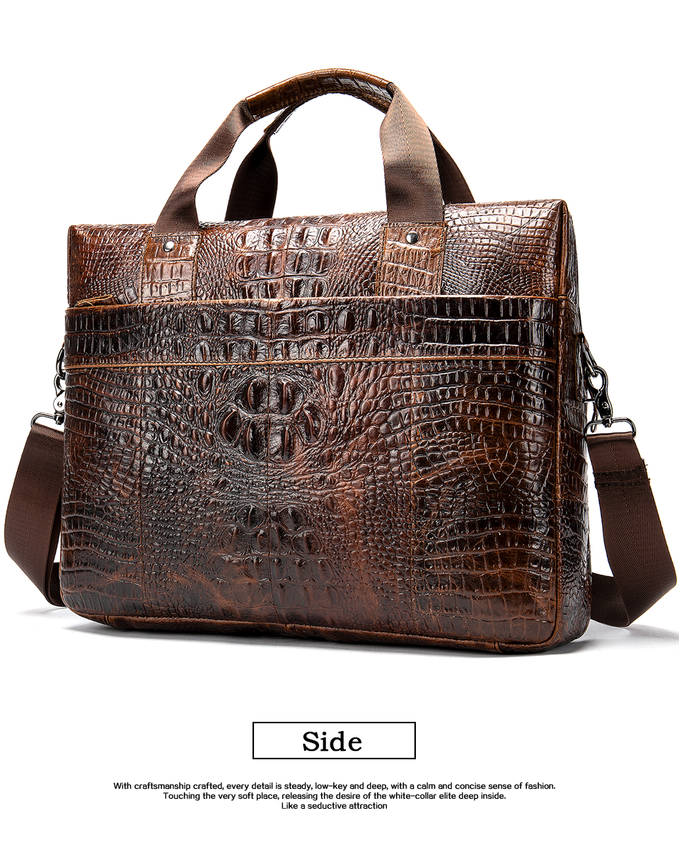 HTB1F.6mXoCF3KVjSZJnq6znHFXaL MVA Male briefcase/Bag men's genuine leather bag for men leather laptop bags office bags for men Crocodile Pattern handbag 5555