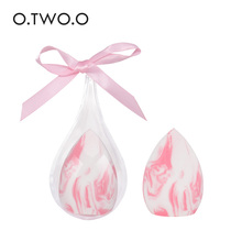 O.TWO.O 1pc Makeup Sponge with Water-drop Shape Box Smooth Womens Foundation Cosmetic Puff to Make Up Tools