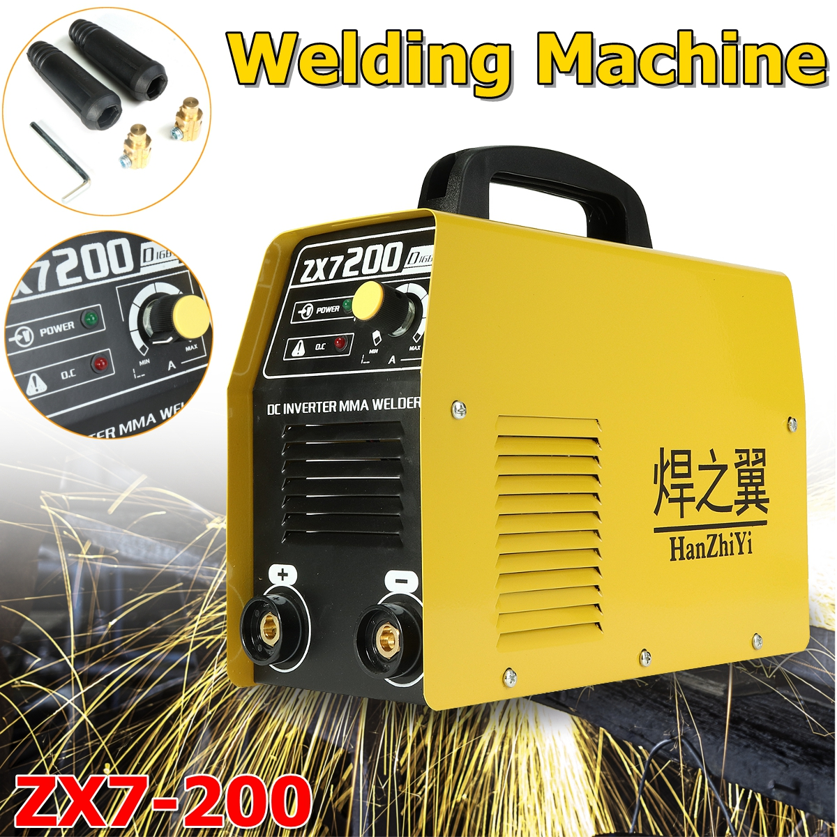 Household Mini All-copper DC 220V Welder Portable Machine Portable Welding Inverter ARC  ZX7-200 Electric Welding Machine inverter electric welder circuit board general money welding machine 200 drive board