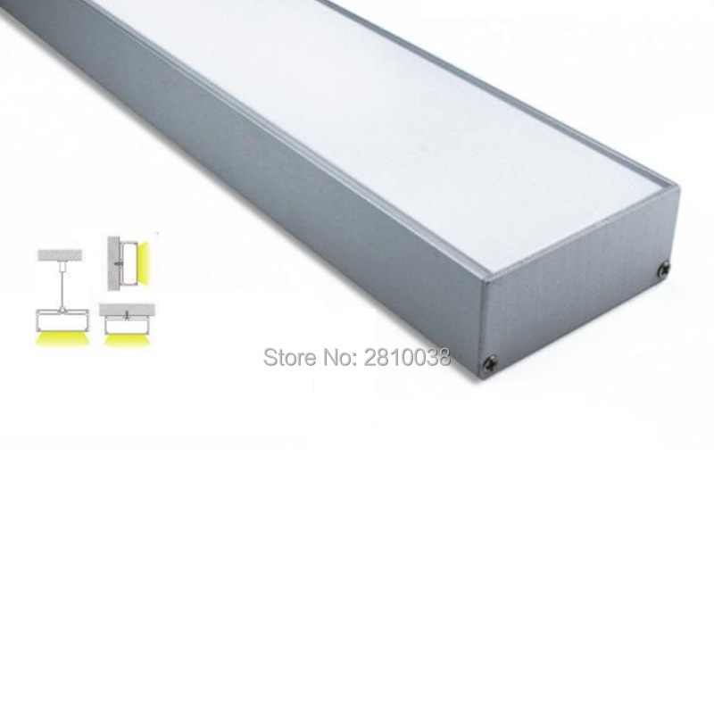100 X1M Sets/Lot 6000 series aluminum profile led and 75mm U-shape led profile extrusion for pendant or suspension lamps100 X1M Sets/Lot 6000 series aluminum profile led and 75mm U-shape led profile extrusion for pendant or suspension lamps