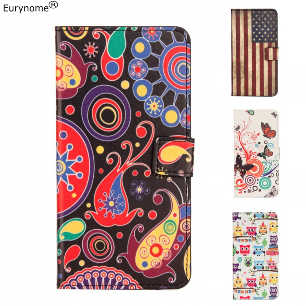 Fashion Chinese flower Owl USA UK Flag wallet card flip pu leather stand case cover for Huawei Y7 2017 Y7 PRIME Enjoy 7 Plus