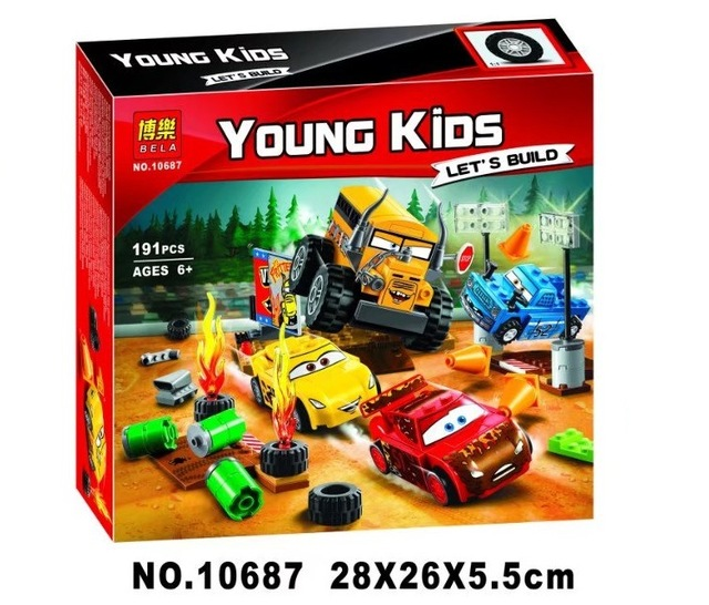 Hot Sale Cars 3 Lightning Juniors Smokey S Garage Hollow Crazy 8 Race Blocks Compatible With 10742 10743 10744 Lepinbricks Gifts Toys For Educational Toys For Childrentoys For Children Aliexpress