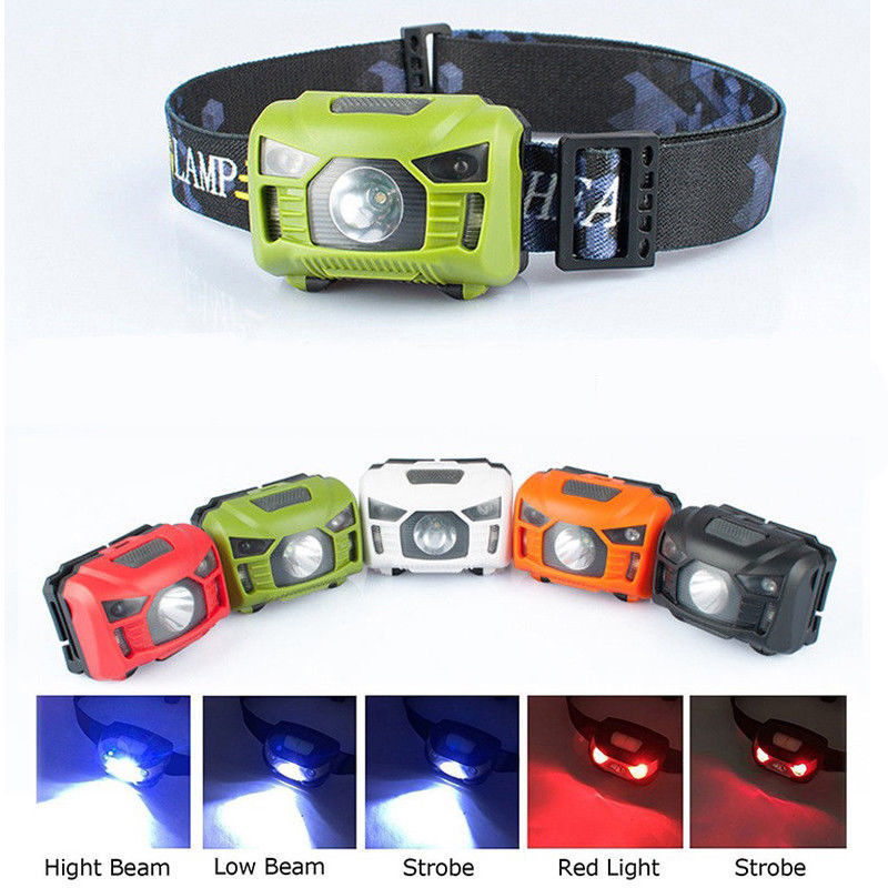 LED Torch Lamp Camping Induction Headlamp USB Rechargeable Motion Sensor Flashlight Super Bright For Outdoor Fishing Dog Walking r3 2led super bright mini headlamp headlight flashlight torch lamp 4 models