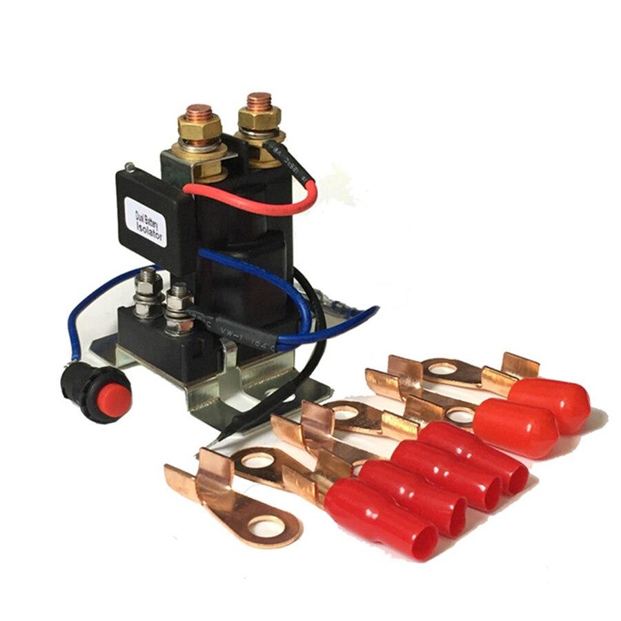 12 V 200 ampères isolateur de batterie et relais 4 bornes double batterie batterie automatique commutateur de secours relais de contrôleur pour la piste de voitures