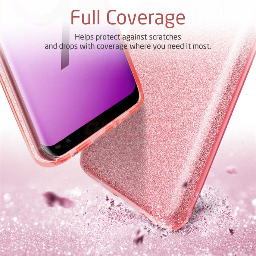 Bling Glitter Silikon Kılıf Için Huawei P30 Pro P20 Lite Onur 8X 7A 7C Pro Y5 Y6 Prime P Akıllı 2018 Nova 2i Mate 20 Lite Kapak