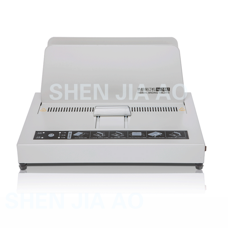 3882 Thermal Binding Machine Electric Binder Hot Melt Binding Machine Glue Binding Machine 220V 3 minutes Warm-up 40mm contrast binding tee