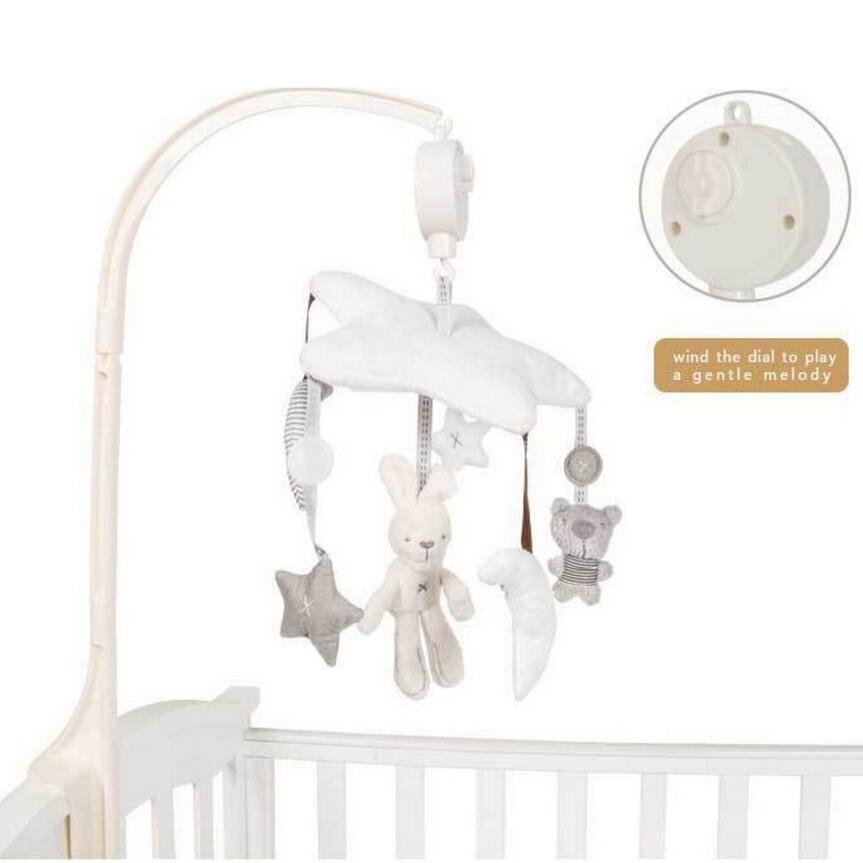 Infanty weichem plüsch mond sterne design Bett glocke musik dreh glockenspiel Anhänger für baby