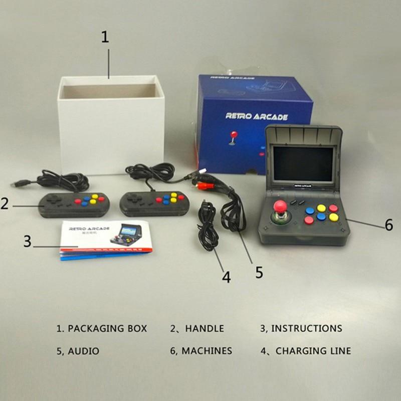 4.3 \ '\' Rétro Console de jeu portable Construit en 3000 jeux vidéo Console portable pour NEOGEO Aracade PSP FC Soutien TF carte S7
