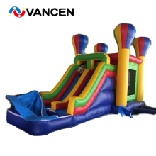 New design 7*4m jumping castle inflatable games for amusement park PVC bouncy with slide