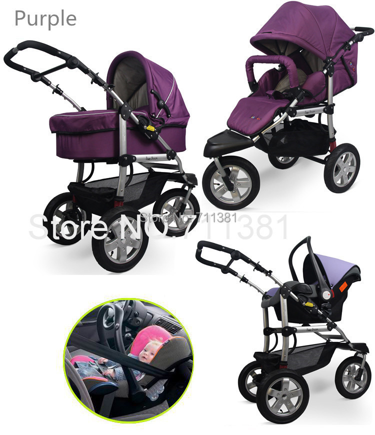 High Quality Luxury 3 In 1 Baby Pram Stroller Comfortable