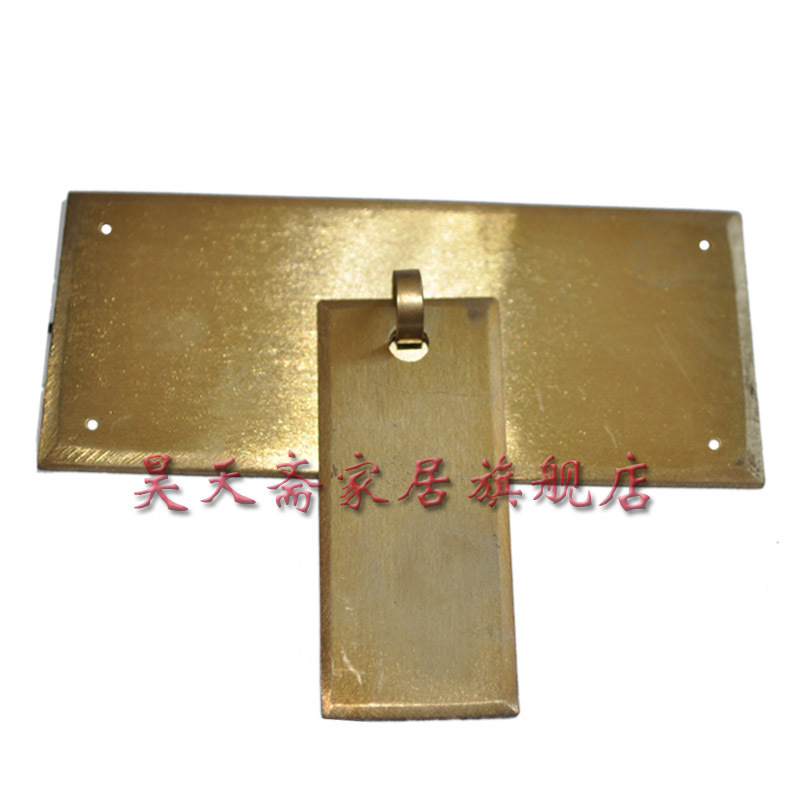 [Haotian vegetarian] Chinese antique furniture Ming and Qing furniture drawer handle copper handle HTD-091 [haotian] bronze fast new chinese antique furniture ming and qing copper door handle lock sheet four seasons peace subsection
