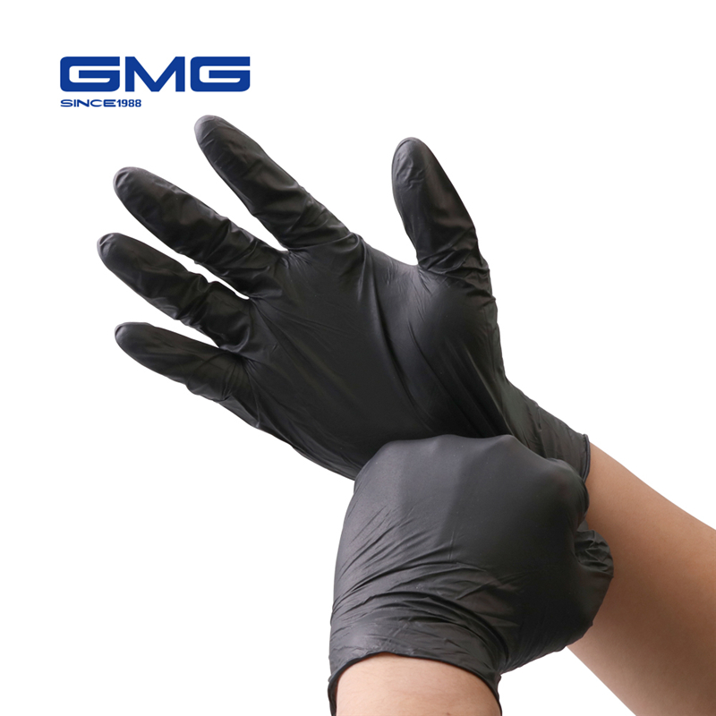 Nitrile-Gloves Mechanic Work Disposable Medical Food-Grade Black Waterproof 6pcs/Lot