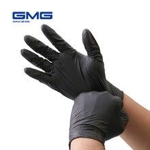 Нитриловые перчатки, черные, 6 шт./лот, пищевые, водонепроницаемые, без аллергии, медицинские, одноразовые, рабочие, защитные перчатки, нитриловые перчатки, механик