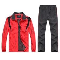 Men's Tracksuit Sportswear Suit Male Casual Sets New Spring Autumn Outwear 2Pieces Jacket + Pants Plus Top Quality Size L 5XL