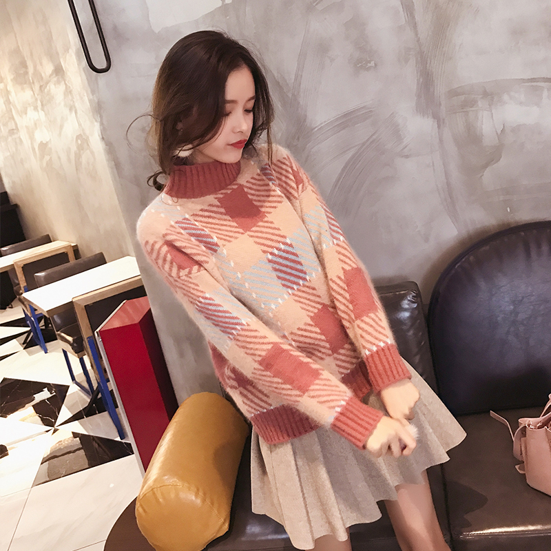 Mishow Turtleneck Sweater Female Autumn Winter 2018 Ladies Loose Casual Long Sleeve Knitted Pullovers MX17D5156