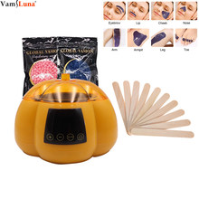 Salon Spa Hair Removal Hot Wax Warmer Heater Pot Machine Kit With 200g Waxing Beans & 10wax sticks, Deep Cleansing Removal(China)