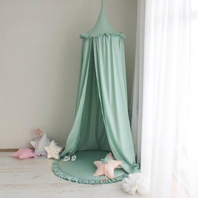 Chambre bébé lit rideau lit tente solide mousseline de soie princesse bébé dôme neige filature moustiquaire enfants auvent couvre-lit rideau