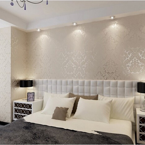 Pvc Damask Wallpaper For Wall From 2014 Germany New Mirror Technology With Bright Finish Papel De