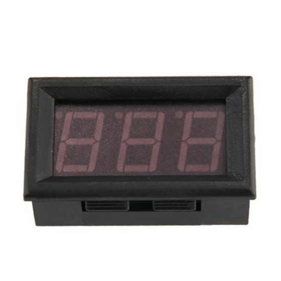 Оптовая продажа мини цифровой амперметр светодиодный панельный метр 0-50 светодиодный красный
