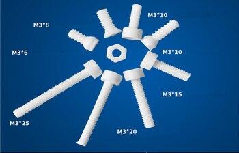 M3 * 8 Alumina inner hexagon Ceramic Screws/ 95% Alumina Ceramic Screws/   Antioxidant Bolt / High Temperature Screw