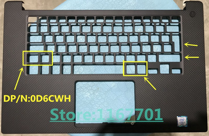 Laptop <font><b>Keyboard</b></font>/touchpad/Palmrest upper case/cover for <font><b>Dell</b></font> XPS 15 9550 Precision <font><b>5510</b></font> M5510 0D6CWH 0WKFHP 0JK1FY US/UK/JP image