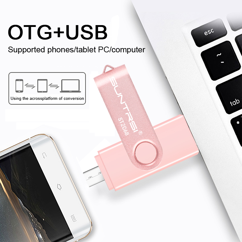 Suntrsi New OTG Flash Driver USB 3.0 Flash Drive 16/32/64G For PC/Smartphone USB Memory Stick Mini Pen Drive Flash Drive