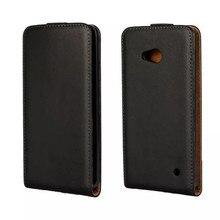 Ультра тонкий кожаный чехол для телефона прямоугольная с магнитным замком Чехол для мобильного телефона Аксессуары для мобильного телефона microsoft Lumia 640