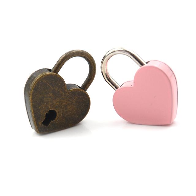 Mini  Padlock Kawaii Love Heart Shape