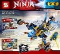 Ninjagoed Armadura del Cole y Jay Carro legoed arma Mejor juguete para los niños bloques de construcción
