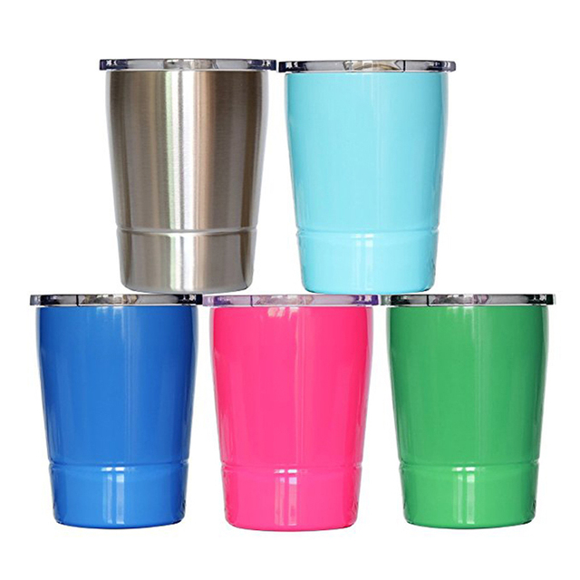 8 Oz Tumbler Stainless Steel Cup Double Wall Vacuum Insulated Water Bottle With Lid Travel Coffee