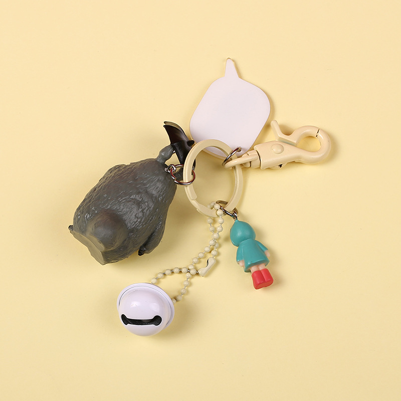 Cute My Neighbor Totoro Keychain Chinchilla Doll Keyrings Pendant fit Bag Charms Purse Accessory for Miyazaki Hayao Comic Fans in Key Chains from Jewelry Accessories