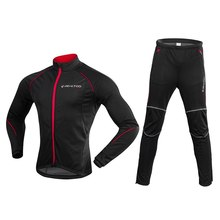 Men Bike Bicycle Running Jacket Clothing Set Winter Fleece Thermal Coat Jersey Windproof  Sport Jersey Bike Bicycle Riding Pant недорого