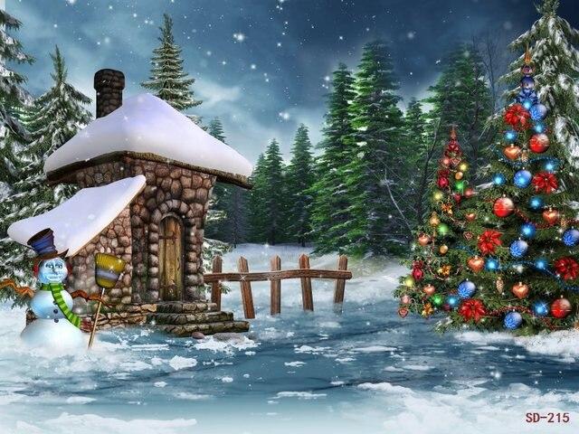 fantasy christmas tree photo background vinyl fondos de estudio fotografia outdoor winter snow scenic backdrop jpg