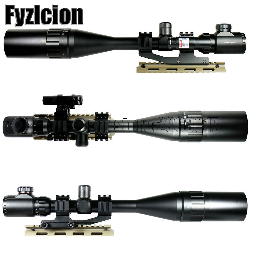Fyzlcion 6-24X50 Hunting  Tactical Optics Riflescopes Red Dot Laser Sight Airsoft Air Gun Reflex Sniper Pistol Holographic Sight 3 5 10x40e red green dot laser sight scope hunting optics riflescopes tactical airsoft air guns scope chasse sniper rifle scope