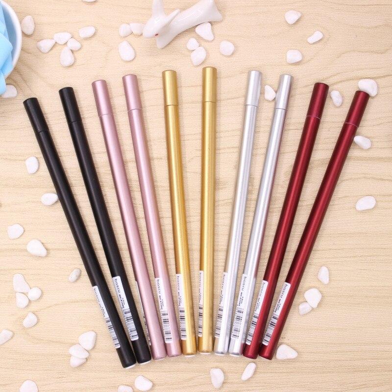 3pcs/lot 0.5mm creative metal handle gel  writing pens stationery canetas material escolar school supplies papelaria