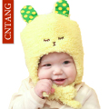 2016 Children Caps Winter Plus Velvet Cute Cartoon Rabbit Hats Fashion Baby Cap For With Ears Warm Hat Kids Girls Boys Beanie