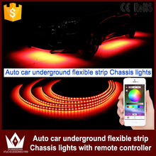 Tcart App control 90/120cm Car RGB LED Strip LED Under Car Glow Underbody System Neon Light waterproof auto car styling