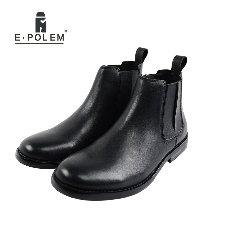 Genuine Leather Men Martin Boots 2017 Vintage Boots fashion Spring winter Ankle Boots
