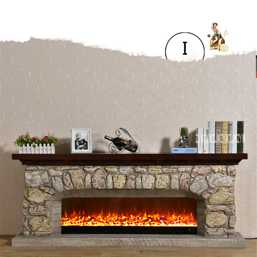 New I-type Living Room Decoration Heating Fireplace Creative European Fireplace Electric Fireplace Shelf+Heating Core 110V/220V