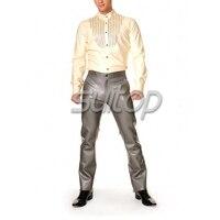 Мужская латекса рубашка одежда