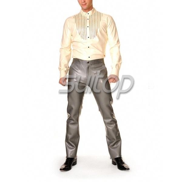 Camisa de látex de caucho ropa de prendas de vestir de los hombres