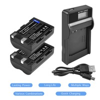 2Packs NP 400 Li ion Battery 7.4V 2000mAh +1Port Battery charger with LED For MINOLTA DiMAGE L20