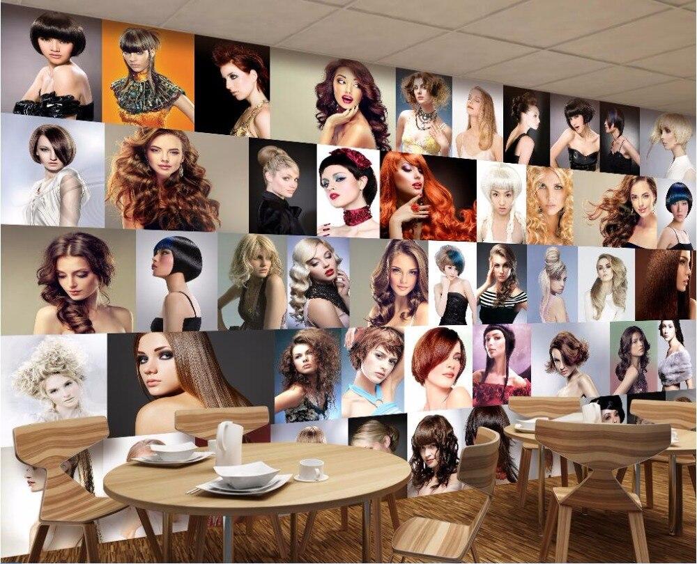 Custom mural d foto behang populaire kapsel modellering ontwerp