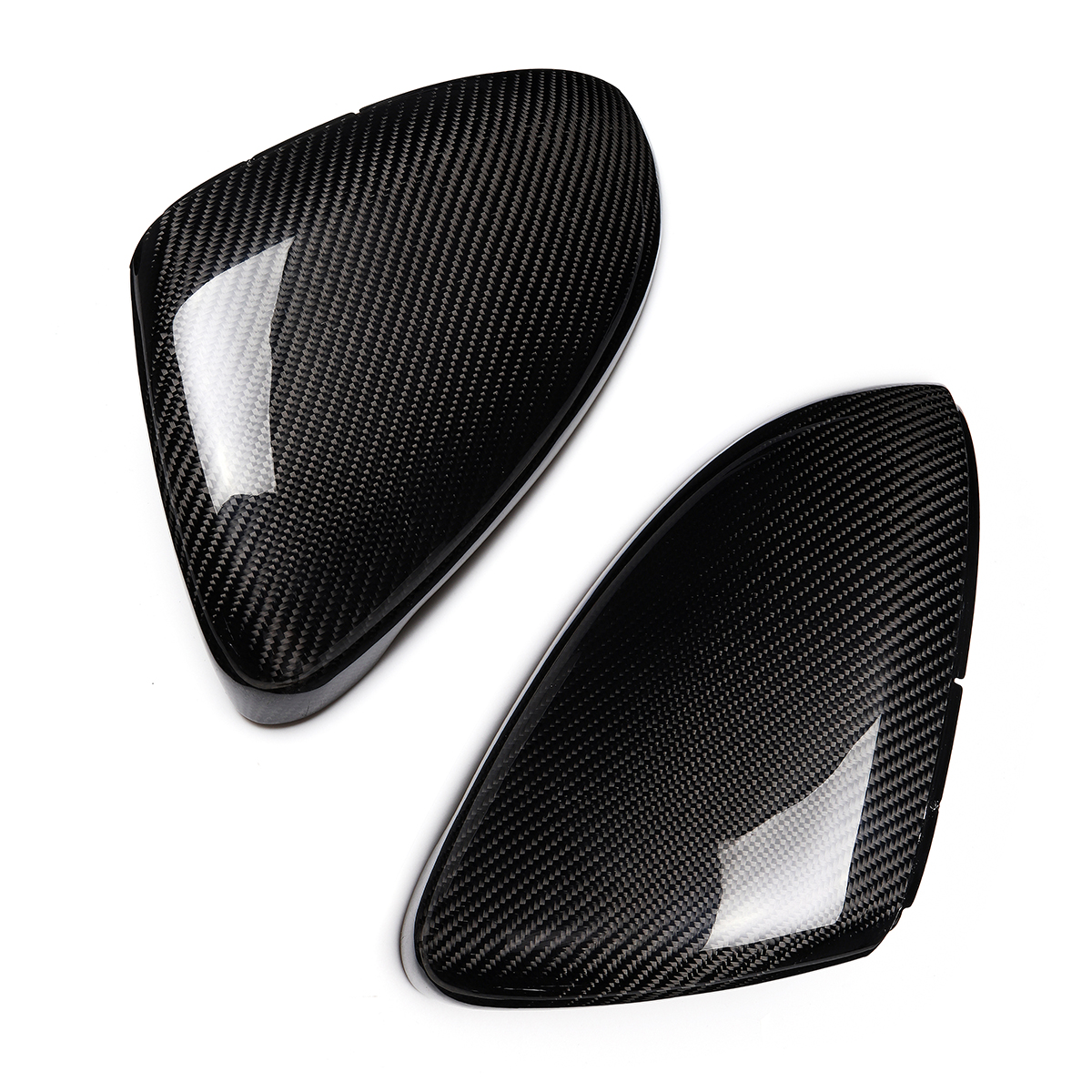 Real Carbon Fiber Rearview Door Side View Mirror Car Wing Mirror Replacement Cover Caps for VW Golf GTI MK7 2013 17 for renault captur 2013 2014 2015 abs carbon fiber vein side door mirror wing mirror cover cap sticker car styling accessories