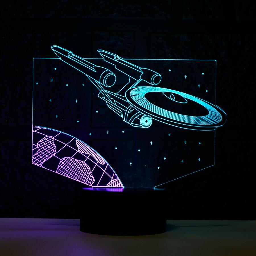 Star Wars 3D Light Star Trek Decor Bulbing Lamp LED Lighting Home Nightlight for Child Gift Mixed Color 7Colors Change Luminaria
