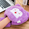 Cartoon Heated mouse pad with wrist rest and USB heater 24*24cm soft plush fabric for laptop desktop computer