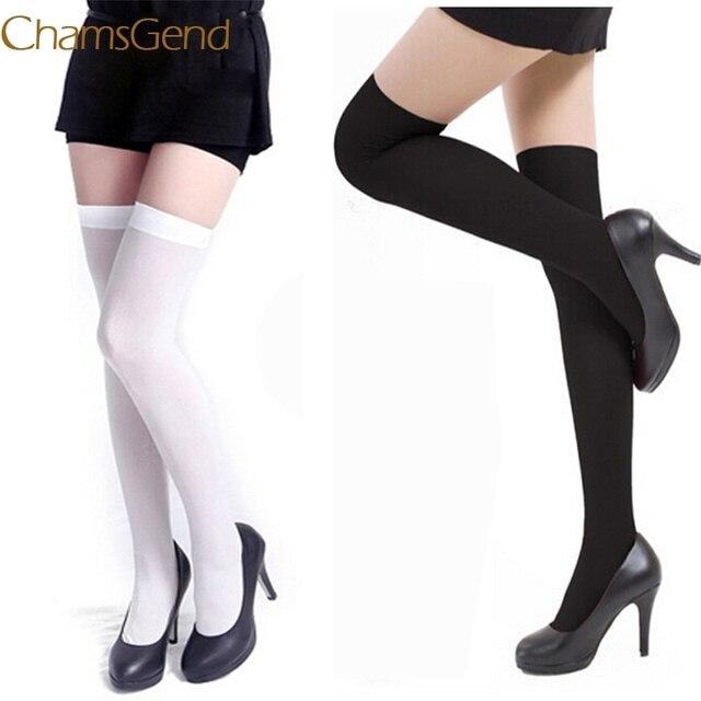 € 1.26 17% de DESCUENTO|Chamsgend invierno calcetines mujeres nylon hecho  punto medias Calcetines de rodilla gruesa Calcetines de pierna mujer muslo  ...