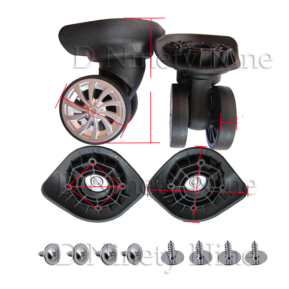 2Pcs A18 Mute Double Row Wheel Trolley Wheels Suitcase Luggage Accessories Caster Wheels Suitcase Parts2Pcs A18 Mute Double Row Wheel Trolley Wheels Suitcase Luggage Accessories Caster Wheels Suitcase Parts