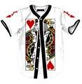 El rey de corazones posters de manga corta para camisetas de béisbol harajuku hombres mujeres hip hop camisas tops divertido pokers diseño camisas