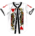 The King of Hearts print short sleeve baseball shirts harajuku men women hip hop shirts tops funny pokers design mens shirts